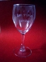 Laser engraving on glass, anniversary,